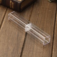 Wholesale square gift boxes wholesale clear - Square Pen Packaging Boxes Crystal Diamond Ballpoint Pens Gift Box Business Promotion Souvenirs Case Free Shipping ZA5993