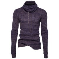 Wholesale Black Wool Belt - Men's Sim Fit Turtle Neck Sweaters For Spring Autumn Cool Pullovers Clothing Wear for Male Casual Sweater