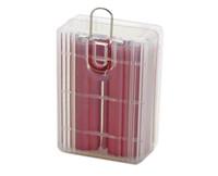 ingrosso copertura in plastica di batterie-200pcs / lot 2 * scatola di immagazzinaggio della batteria 18650 RCR123 16340 contenitore di scatola di immagazzinaggio del sacchetto del contenitore di copertura di plastica dura vuota del contenitore