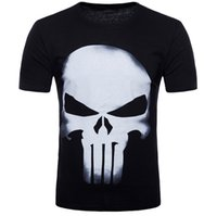 Wholesale mma t shorts - T-Shirt 3D Punisher Skull MMA Workout Crossfit T Shirt Fitness Tights Casual Shirts Clothing Tee Shirt