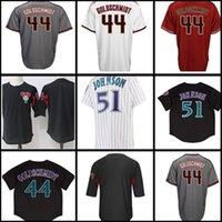 Wholesale high johnson - 44 Paul Goldschmidt 51 Randy Johnson Jersey Men's High quality stitched Baseball Jerseys Free Shipping M-XXXL