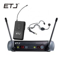 бренды для гарнитур оптовых-ETJ  UHF Professional Wireless Microphone System PGX for Stage Microphone PGX4 PGX14 Bodypack Belt Pack Headset