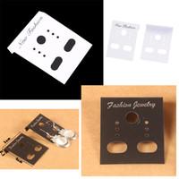 siyah asılı küpeler toptan satış-Wholesale-3000pcs / lot Moda Beyaz siyah Takı Küpe Ambalaj Ekran Kartları plastik Etiketleri 4 * 3 cm Asılı Etiketleri Özelleştirilmiş boyutu