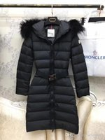 parka chaqueta de piel de zorro al por mayor-M Brand Mujeres Chaquetas Abajo 100% real fox fur Duck Down Coats Real Large Fur Collar Hooded Thick Duck Down Parkas