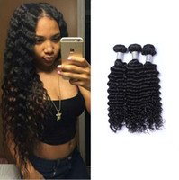 Wholesale human hair weft deep curl for sale - Group buy Peruvian Deep Wave Curl Unprocessed Human Virgin Hair Weaves Remy Human Hair Extensions Human Hair Weaves Dyeable bundles