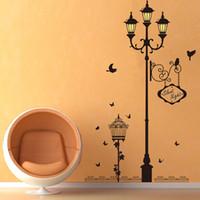 luces de vinilo al por mayor-Nueva lámpara de luz de jaula post luces nocturnas wallpaper wallpaper pegatinas de pared diy extraíble pvc decoración para el hogar decoración de vinilo para sala de estar