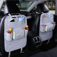 Wholesale wall pocket holder - Auto Car Back Seat Storage Organizer Trash Net Holder Multi-Pocket Travel Storage Bag Hanger for Auto Capacity Storage Pouch 1PC