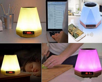 Wholesale Floor Stand Lamps - In 2018, OEM Led color lamp wireless alarm alarm clock can be inserted into the tf card bluetooth speaker factory direct sale