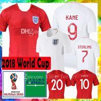 Wholesale mens soccer shirts - Top quality Mens world cup 2018 ENGLAND soccer jersey STERLING LINGARD 7 KANE 9 DELE 10 RASHFORD RASHFORD football shirt Maillot de foot