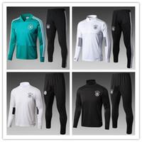 Wholesale 18 chandal Germany Training Suit Maillot de Foot germany Survetement Football adult Soccer Tracksuit jackets kits best qualit