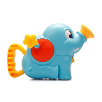 Wholesale Geography Toys - Shower Pump Infant Baby Toy Kids bathroom elephant sprinkles showers pump The baby hand hydraulic Baby Bath Toys Elephant Water Blaster