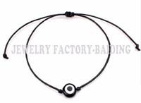 pulseira de corda vermelha sorte venda por atacado-Navio livre 50 pçs / lote Red String Evil Eye Sorte Red Cord Pulseira Ajustável NOVA