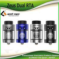 Wholesale upgrade system - Original Geekvape Zeus Dual RTA Tank Upgraded Dual Coil Building Version 4ml Atomizer Leak Proof Top Airflow System 100% Authentic
