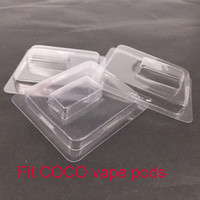 Wholesale free electronics vapor pen for sale - Group buy Clear plastic clamshell Fit COCO Pod Vape Pen Electronic Cigarettes Accessory For UUL starter kit vapor Pods retail packaging