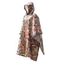 Wholesale Y0978 in Multifunctional Outdoor Travel Camouflage Raincoat Poncho Backpack Rain Cover