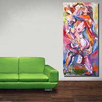 karikatur lehm figuren großhandel-Wohnkultur Leinwand Wandkunst Therapeutische Qualitäten von Tonfigur Ölgemälde Leinwanddruck Wandbilder für Wohnzimmer Kein Gestaltet