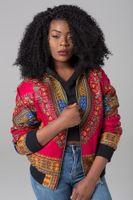 ingrosso giacche india-DARSJUCBD 2018 Sexy Indie Folk Womens Jacket Coat Dashiki African stampato Bomber Jacket Autunno Nuovo