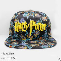 Wholesale Hip Hop Harry - High-quality men and women baseball cap Harry Potter Gryffindor Four Academy logo hip hop wild casual hat Adjustable sunscreen baseball cap