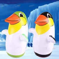 vasos de navidad al por mayor-Niños Inflable Pingüino Vaso PVC Niños Juguetes Aire Animal Globo Fiesta de Cumpleaños Favor de Fiesta Mejor Regalo de Navidad de Halloween