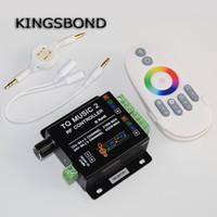 müzik rf uzaktan kumandalı rgb toptan satış-Music2 Denetleyici Led RGB Müzik Denetleyici RF Uzaktan Akıllı Sonic Hassasiyet Led Aydınlatmalı Uzaktan Ücretsiz Kargo
