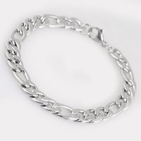 цепи из нержавеющей стали панк-рок оптовых-Wholesale 4 Style Men Stainless Steel Bracelets Trendy Link Wrist Chain Silver Color Bracelet Punk Rock Jewelry