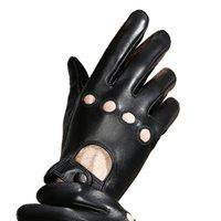 волокно плюс продажа оптовых-Горячие продажи кожаные перчатки мужские сенсорный экран овчины перчатки зимние вождения плюс бархат теплые мужские кожаные NS40-5