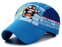 Wholesale Quality Net - Cute Spring and Summer New Children's Hats Cartoon Net Caps Kids Outdoor Shade Quick-drying Top Quality Hat Only Accept Big Order