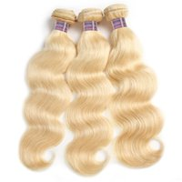 Wholesale top selling human hair extensions resale online - Brazilian Hair Body Wave Hair Bundles Blonde Color Fashion A Malaysian Peruvian Virgin Human Hair Extensions Top Selling