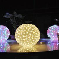 linterna de la etapa de iluminación al por mayor-Luces led Linterna Bola de Sakura Linterna Nueva etapa diseño del centro comercial Fiesta del día de Navidad linterna hogar sala de niños luces decorativas