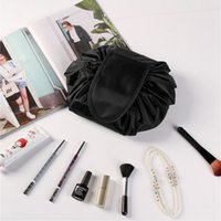 Wholesale Drawstring Bag Trend - Women cosmetic bag big capacity drawstring make up bag travel pouch women sundries storage bags Korea trend DHT395