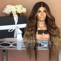 uzun kıvırcık insan saçı perukları toptan satış-FZP Ucuz Simülasyon İnsan Uzun Saç Peruk Brezilyalı En Vücut Dalgalı Saç Peruk Siyah Kadınlar Için Afro Kinky Kıvırcık Tam Kısa Peruk
