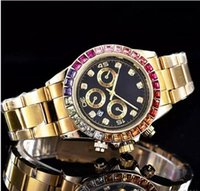 Wholesale quartz watches for sale - Top sale high quality elegant Luxury brand Fashion designer Ladies gold watch Automatic calendar stainless steel diamond watches for women