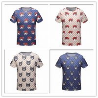 Wholesale T Shirts Tie Dyed - 2018 spring Summer fashion Designer luxury for men tie-dyed cat tiger print T-shirt short sleeve tshirt Tee Casual Top women shirt