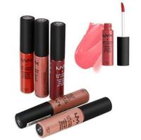 Wholesale lipstick waterproof nyx online - New NYX Soft Matte Lip Cream Lipgloss Velvet WaterProof Liquid Lipstick ML Have Different Colors Lipsticks Hot