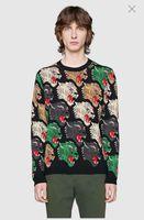 sudaderas de leopardo para hombre al por mayor-Suéteres de lujo de calidad superior Leopard cabeza armadura completa ropa de moda de alta moda para hombre sudadera Outwear Tops