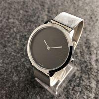 relojes masculinos delgados al por mayor-Relogio masculino reloj de pulsera negro dropshipping 2019 nuevos hombres de la marca reloj pulsera Ultra-delgado para hombre del diseñador relojes daydate masculino reloj de cuarzo