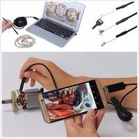 камеры автомобили оптовых-Широкоугольный 65 Градусов 1M 7.0 мм Водонепроницаемый USB-автомобиль Android Android Эндоскоп HD камера