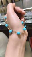 ingrosso porcellana di pietra del braccialetto-La produzione cinese di bracciale in oro 24K con bracciale in metallo naturale placcato in lega di pietra naturale