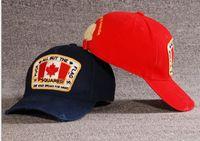 Wholesale women designer hats - D2 ICON Hip Hop Baseball cap Snapback Hats Brand designer Canada Flag Style Hat for Men Women Caps Casquette hats Letter Embroidery Gorras