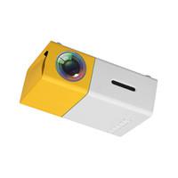 projecteurs vidéo achat en gros de-1080 P Mini LED Projecteur Portable HD Home Cinéma Théâtre HDMI USB AV SD Xbox Téléphone Projecteur YG-300