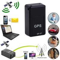 seguridad inteligente gsm al por mayor-Mini Tiempo Real GPS Inteligente Coche Magnético Global SOS Tracker Localizador Dispositivo GSM GPRS Seguridad Auto Grabadora de Voz