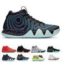 brand new 55215 66bcf Kyrie Irving 4s IV EP 70er Jahre 90er Jahre Dekade Pack Multi-Color-Onkel  Drew Irving 4 Mens Basketball Schuhe Chaussures Turnschuhe Zapatos Größe  40-46