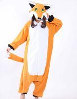 fox tier pyjamas groihandel-Fuchs lager warmes einhorn kigurumi pyjamas tier anzüge cosplay halloween kostüm erwachsenes kleidungsstück cartoon overalls unisex tier nachtwäsche