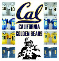 2cf765a59 NEW NCAA California Golden Bears College Marshawn Lynch 10 Aaron Rodgers 8  17 DeSean Jackson STITCHED JERSEY FOOTBALL 2018 TOP sports