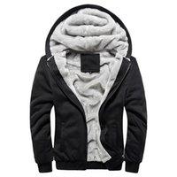 добавить куртки оптовых-2018 осень зима новых мужчин случайные моды Добавить хлопок мягкой куртке с капюшоном пальто