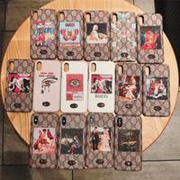 bilder telefongehäuse großhandel-Klassische cartoon bild luxus telefonkasten für iphone xs max telefonkasten für iphone marke designer telefon case für iphone 678 plus
