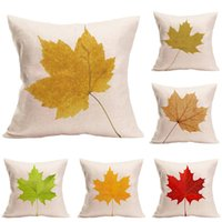 Wholesale Office Sofa Designs - Wholesale 6 graphic simple fashion maple leaf design pillowcase, for living room sofa, car cushion, office cushion for free delivery.