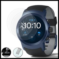 Wholesale Optimus L9 - 2.5D Tempered Glass Protectors for LG watch Sport Screen Protectors for Watch Style for G Watch w100 9H