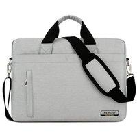 bolso para macbook al por mayor-Alta calidad de gran capacidad del bolso del ordenador portátil hombres mujeres maletín de viaje Bussiness Notebook Bag para 14 15 pulgadas Macbook Pro Dell PC