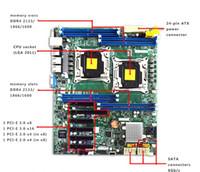 x1 destek toptan satış-Supermicro X10DRL-I Çift LGA için 2011 Sunucu Anakart DDR4 ATX Desteği E5-2600V3 Serisi CPU